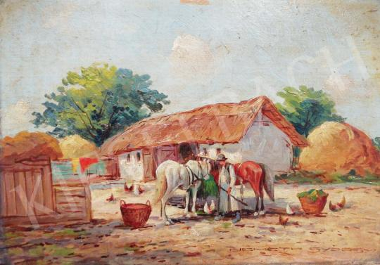 For sale Németh, György - Village Scene 's painting