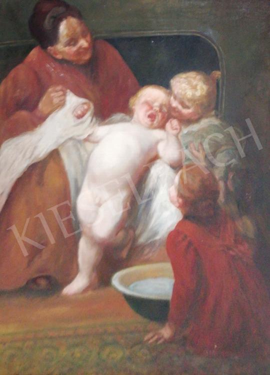 Gergely Imre - Fürdetés festménye