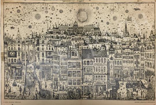 Gross Arnold - A kék álmok városa festménye