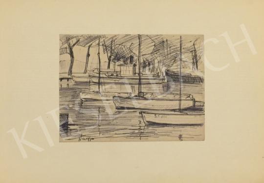 Eladó Nagy Sándor - Csónakkikötő (Balatonszemes), 1964  festménye