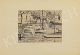 Nagy Sándor - Csónakkikötő (Balatonszemes), 1964