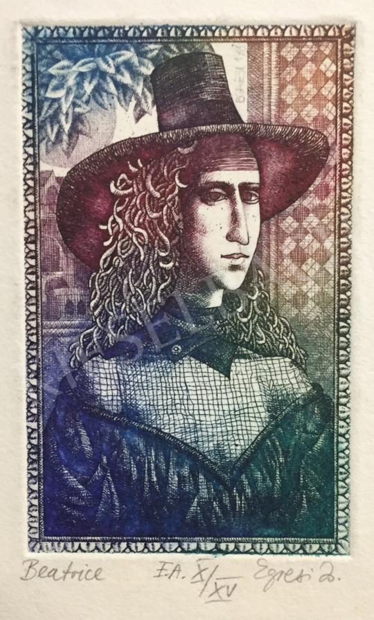 Eladó Egresi Zsuzsa - Beatrice festménye