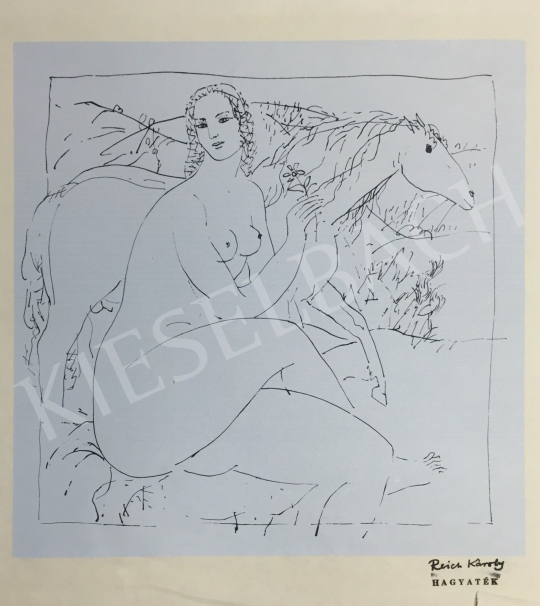 For sale  Reich, Károly - Nude with Horse 's painting