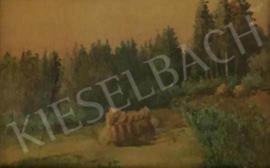 Eladó  Macalik Alfréd - Erdőrészlet szénakazallal festménye