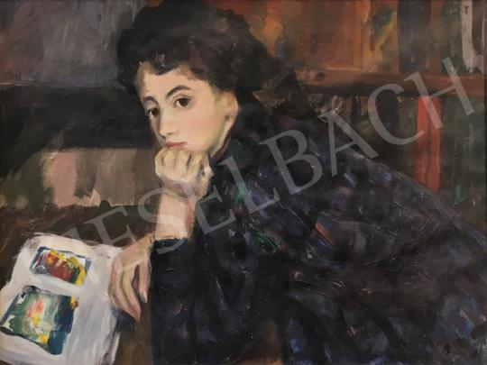 For sale Balogh, András - Young Girl with a Book 's painting