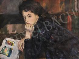 Balogh András - Albumot lapozgató fiatal lány