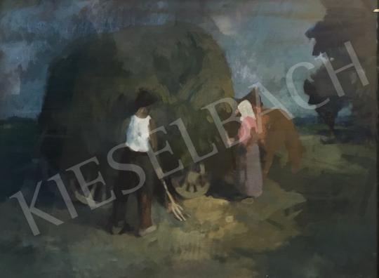 Eladó Ujváry Lajos - Szénaboglyák festménye