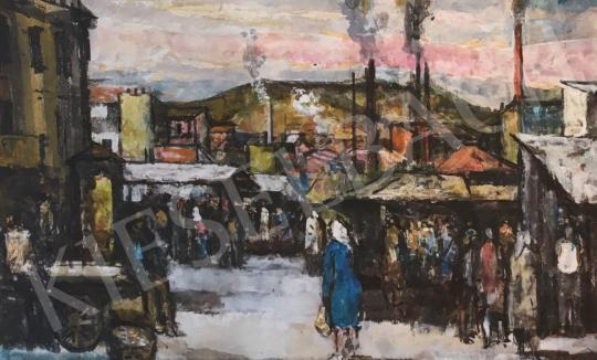 Eladó  Bencze László - Piaci részlet, 1952 festménye