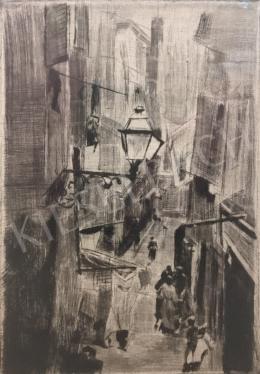 Ismeretlen festő - Utcarészlet