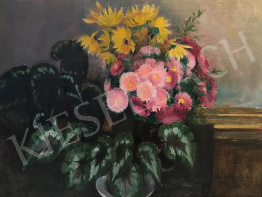 For sale  Benkhard, Ágost - Spring Flower Still-Life, 1960 's painting