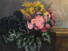 Benkhard Ágost - Tavaszi virágcsendélet, 1960