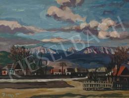 Duray Tibor - Tájkép gomolyfelhőkkel (Eső előtt)