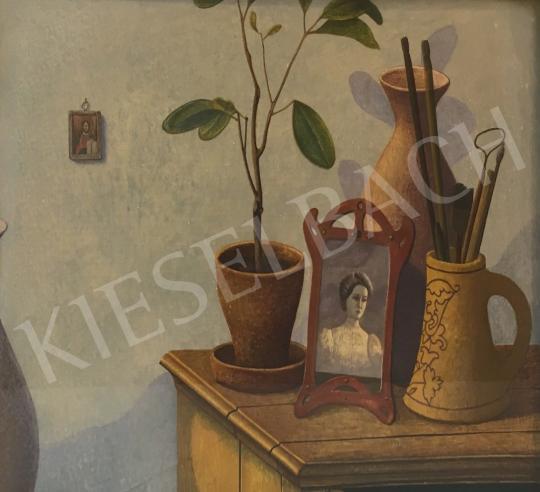 Zoltánfy István - Csendélet szobanövénnyel és fényképpel festménye
