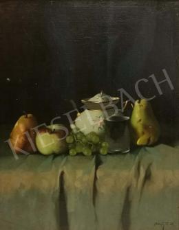Molnár Z. János - Asztali csendélet gyümölccsel és bonbonierrel