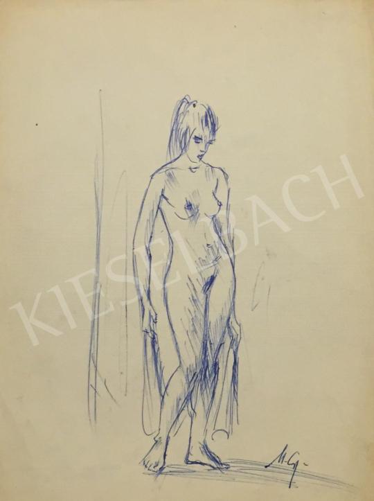 For sale  Metykó, Gyula - Standing Women Nude 's painting