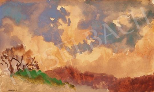 Szőnyi István - Felhők Zebegény felett   18. Aukció aukció / 4 tétel