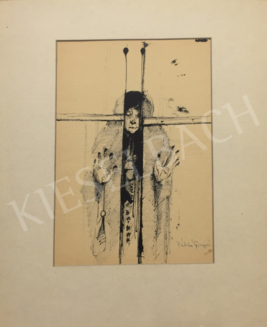 Eladó Fábián Gyöngyvér - Öreganyám (Várakozó) festménye