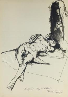 Fábián, Gyöngyvér - Lying Female Nude