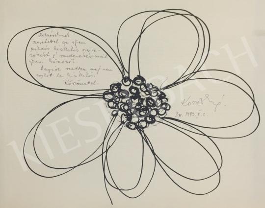 Eladó  Ismeretlen művész olvashatatlan szignóval - Virág festménye