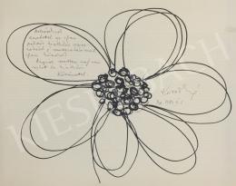 Ismeretlen művész olvashatatlan szignóval - Virág