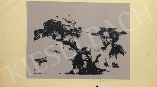 Eladó Lacza Márta, Dékányné - Kalapos asszony gyermekével festménye