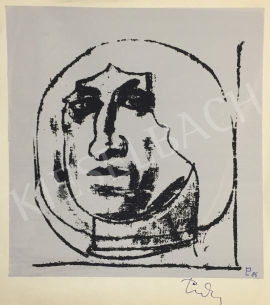 Eladó  Ismeretlen művész olvashatatlan szignóval - Fej  festménye