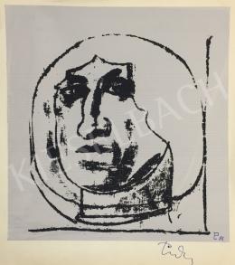 Ismeretlen művész olvashatatlan szignóval - Fej