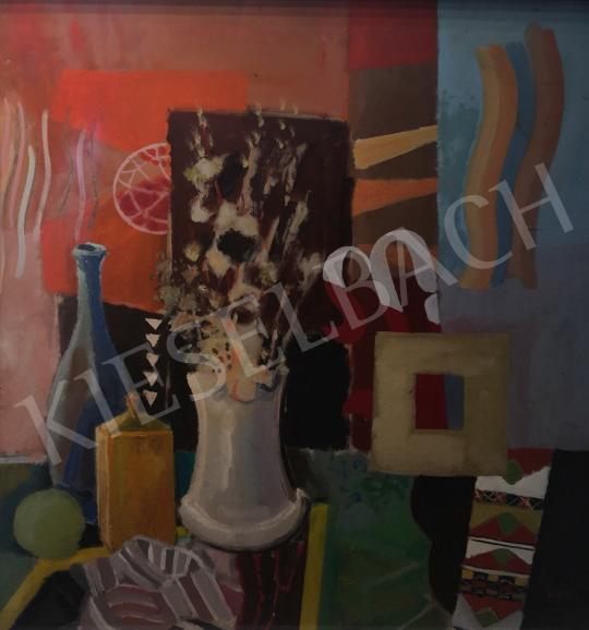 Eladó Misch Ádám - Absztrakt csendélet barkával festménye