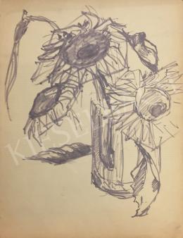István Húth - Sunflower Still Life