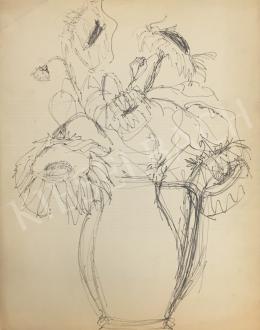 Húth István - Virágcsendélet vázában