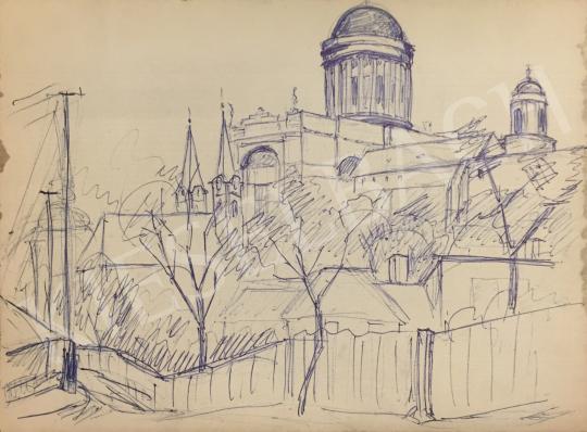 Eladó  Húth István - Az esztergomi Bazilika  festménye