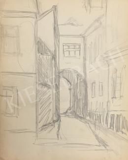 Húth István - Sikátoros utcarészlet