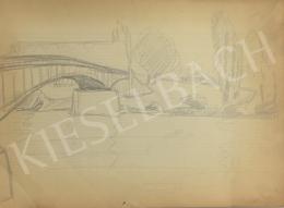 Húth István - Tájkép híddal