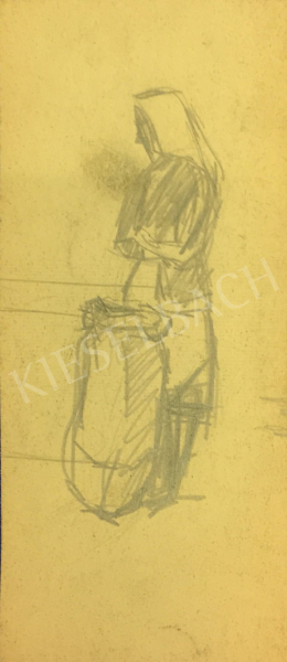 István Húth - Sketch of a Women