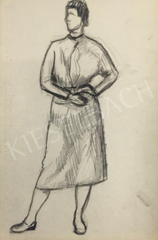Eladó  Húth István - Álló női modell festménye