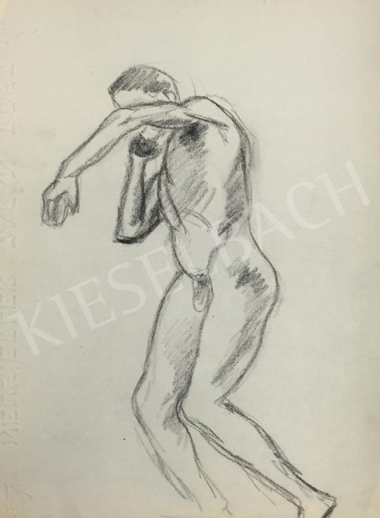 Eladó  Húth István - Súlylökő férfi fázisrajz festménye