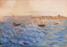 Márffy Ödön - Csónakok a Balatonon