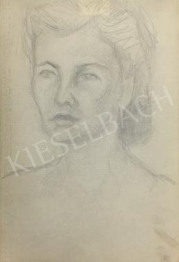 Húth István - Női portré finom vonásokkal