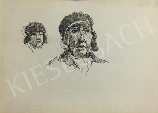 Eladó  Húth István - Női kalapos portré variáció festménye
