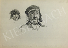 Húth István - Női kalapos portré variáció