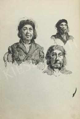 Húth István - Kalapos női portré variáció