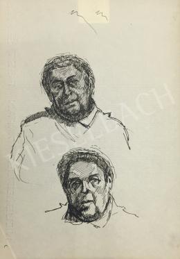 Húth István - Kettős férfi portré