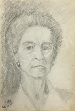 Húth István - Elegáns idős hölgy portréja