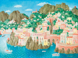 Pekáry, István - Italian Seaside (Mediterranian Summer), 1974
