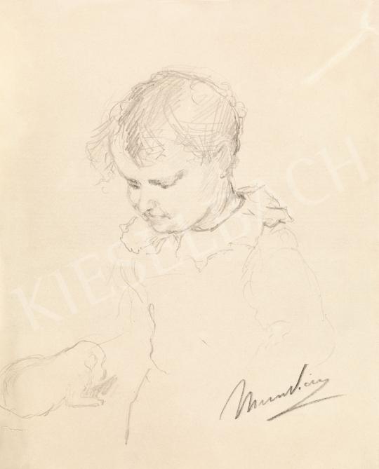 Munkácsy Mihály - Kislány csipkegalléros ruhában, 1876   58. Tavaszi Aukció aukció / 6 tétel