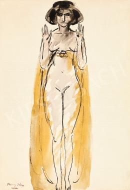 Vaszary, János - Yellow Robe, 1900s