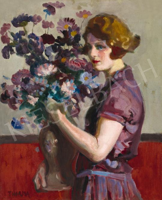 Thorma János - Fiatal lány (A lila ruha), 1929 | 58. Tavaszi Aukció aukció / 8 tétel