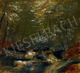 Mednyánszky, László - Brook in the Forest
