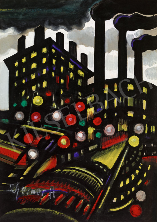 Scheiber, Hugó - City Lights, 1930s | 58th Spring Auction auction / 16 Item