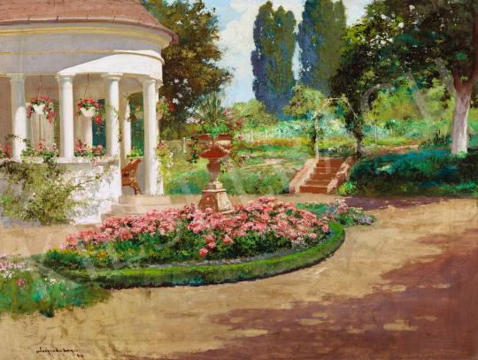 Neogrády László - Tavasz a kertben, 1928 | 58. Tavaszi Aukció aukció / 17 tétel
